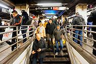 Rush in Manhattan train (MTA) station.