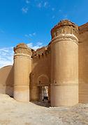 """Main gate, Qasr al-Hayr al-Sharqi (Eastern al-Hayr Palace or the """"Eastern Castle"""") is a castle in the middle of the Syrian Desert."""