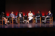 May 7, 2012- New York, NY United States: - (L-R) Producer Alia M. Jones, Producer Stephen Byrd, Actor Wood Harris, Actress Nicole Ari Parker, Actor Blair Underwood, and Dr. Michael Eric Dyson attend Theater Talks at the Schomburg: A Streetcar Named Desire held at the Schomburg Center for Research in Black Culture, part of the New York Public Library on May 7, 2012 in Harlem Village, New York City. The Schomburg Center for Research in Black Culture, a research unit of The New York Public Library, is generally recognized as one of the leading institutions of its kind in the world. For over 80 years the Center has collected, preserved, and provided access to materials documenting black life, and promoted the study and interpretation of the history and culture of peoples of African descent.  (Photo by Terrence Jennings) .