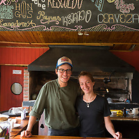 South America, Argentina, Patagonia, Chubut, Esquel, Los Alerces , National Park, couple in the park restaurant