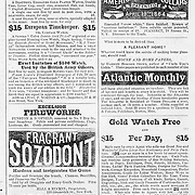 Harper's Weekly June 25, 1864   advertisements for  land sales, books,  watches, medicine,tooth paste, shirt collars and more