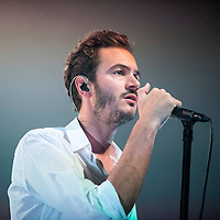 Singer Tom Smith of Editors performs live on stage at 02 Academy on October 18, 2015 in Glasgow,Scotland