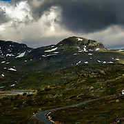 Mountainroad at Haukelifjell, Telemark, Norway.