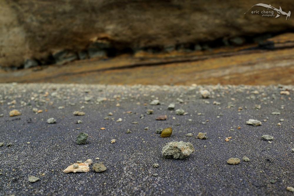 Sandstone cliffs at the beach in Del Mar, San Diego, California