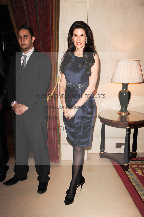 CHRISTINA ESTRADA JUFFALI at a reception hosted by Films Without Borders at the Lanesborough Hotel, Hyde Park Corner, London on 27th October 2010.