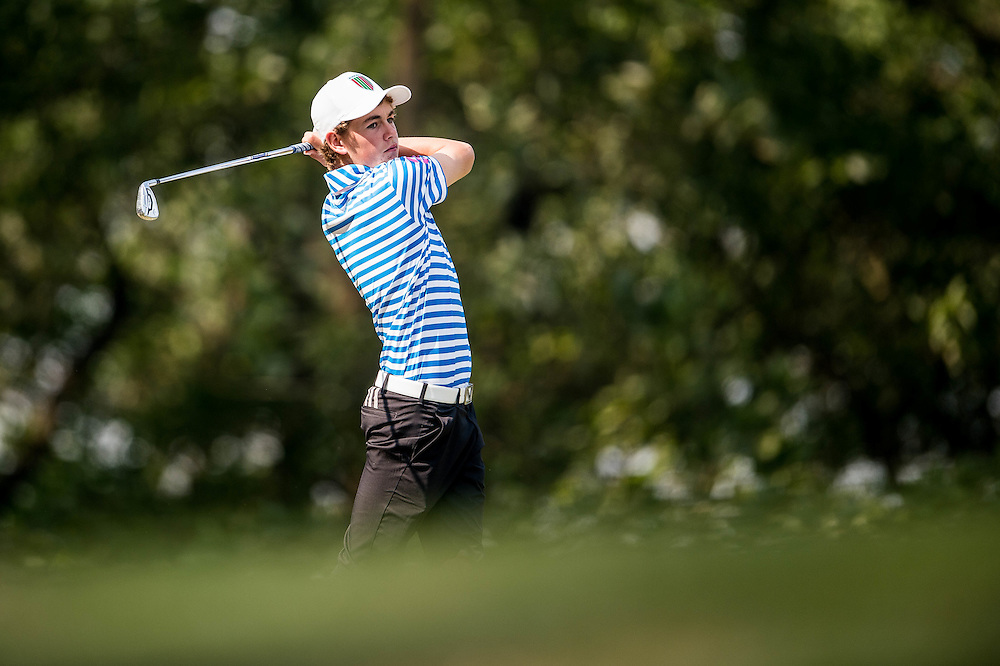 Tom Parker of New Zealand in action during day two of the 10th Faldo Series Asia Grand Final at Faldo course on 03 March of 2016 in Shenzhen, China. Photo by Xaume Olleros.