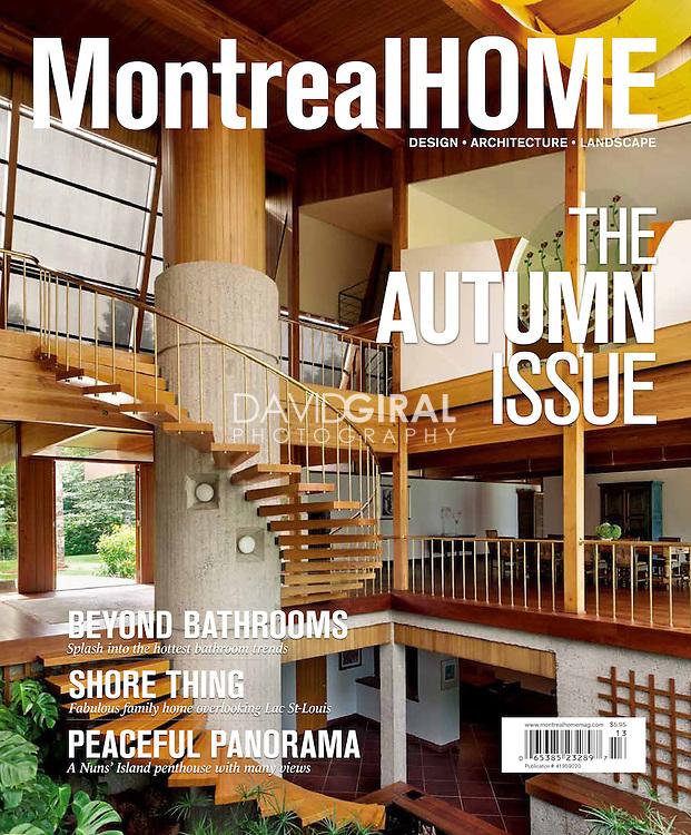 Cover of Montreal Home Magazine, Autumn Issue 2011   design - architecture - landscape