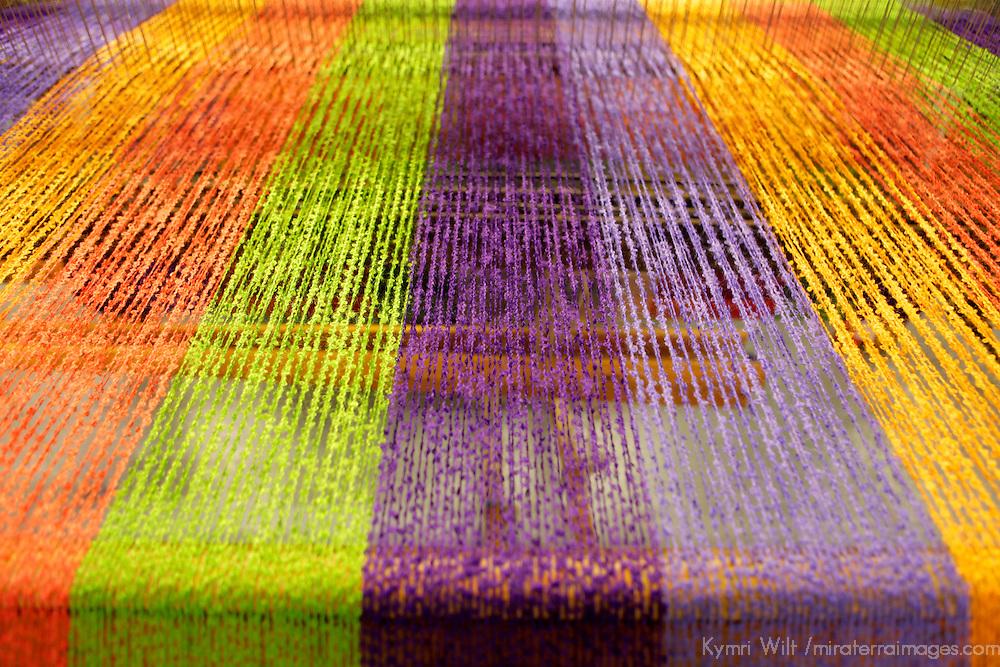 Europe, Ireland, Avoca. Avoca Handweavers Mill, County Wicklow. Colorful Wool Yarns.