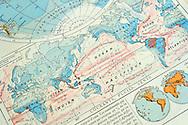 02/05/13 - ORLEAT - PUY DE DOME - FRANCE - Mapemonde et cartographie - Photo Jerome CHABANNE - Contact: 06 07 33 72 57