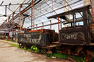Train in Rafael Freyre, Holguin, Cuba.