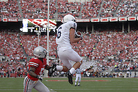 Penn State wide receiver hauls in a touchdown in the Ohio State vs Penn State game on Nov. 13, 2010 at Ohio Stadium in Columbus, Ohio.