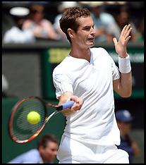 JUL 02 2014 Andy Murray  v Grigor Dimitrov Wimbledon