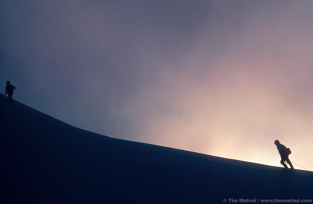 Climbers on Mt. Baker, Washington.
