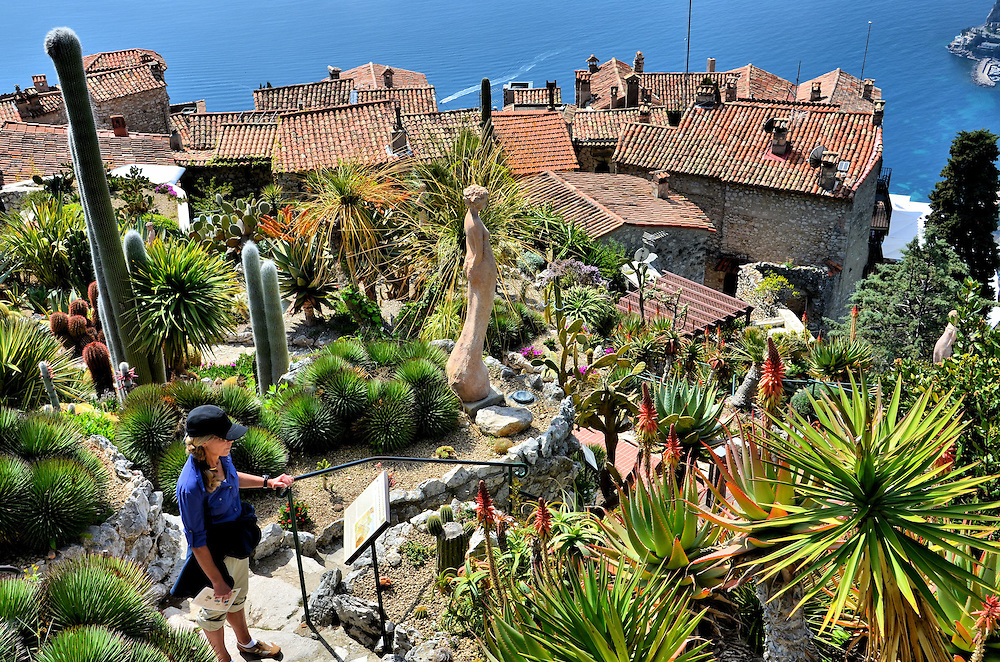 Jardin exotique garden mediterranean view from in ze france encircle photos - Jardin exotique d eze mulhouse ...