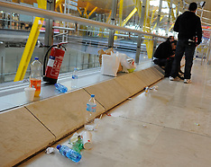 JAN 28 2013 Barajas Airport - Garbage Strike