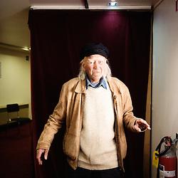 """Rene Vautier's portrait during Brussels' Festival des Cinemas Africains (African Film Festival). He directed """"Afrique 50"""" and the award-winning """"Avoir 20 ans dans les aures"""" among others. Commune d'Ixelles, Brussels. April 4, 2009. Photo : Antoine Doyen"""