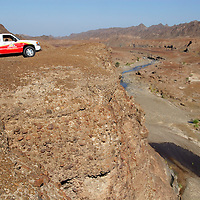 Exploring the Hajar mountains in Oman