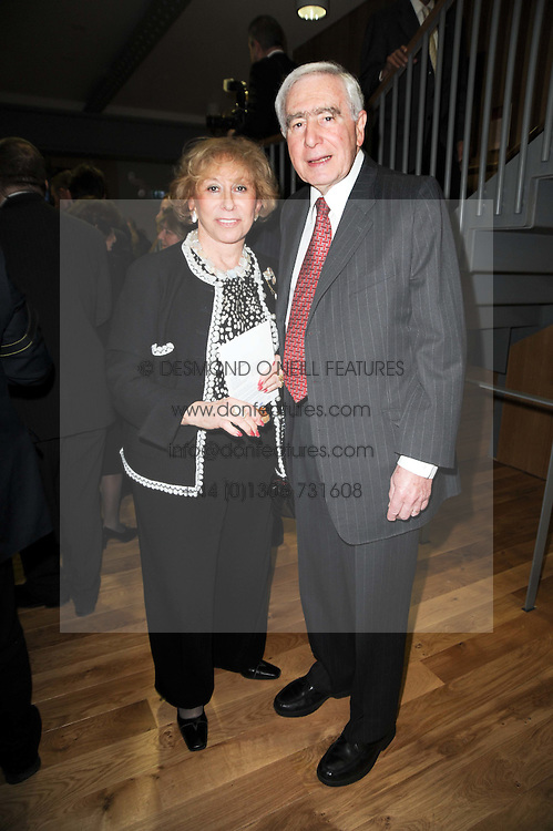 SIR SIDNEY & LADY LIPWORTH at the opening reception of the new Jewish Museum, Raymond Burton House, 129-131 Albert Street, London NW1 on 16th March 2010.