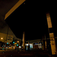 About 20 teenagers and young adults live at an abandoned gas station in Guatemala City's Zone 4. Human waste litters the grounds.. About 20 otherwise homeless people live inside the station, and most are addicted to huffing paint thinner to numb the cold and their hunger pains.