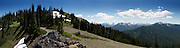The view is spectacular, 270 degrees, at the top of Blue Mountain in Olympic National Park. You can see the Olympic range, Port Angeles, Sequim, Canada, the San Juan Islands and many other islands, along with Mt. Baker. <br /> GPS: 47.956902,-123.260897 http://goo.gl/maps/d45qB