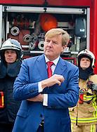 King Willem-Alexander of The Netherlands visits the Twente Safety Campus in Deurningen, The Netherlands, 6 October 2016. At the campus school children and the elderly how to react in dangerous situations. 6-10-2016 ENSCHEDE - King Willem-Alexander is Thursday, October 6th at the opening of the National Congress in the Netherlands Fire Wilminktheater in Enschede. He will give a speech. He then brings a working visit to Twente Safety Campus.COPYRIGHT ROBIN UTRECHT<br />  6-10-2016 ENSCHEDE - Koning Willem-Alexander is donderdag 6 oktober aanwezig bij de opening van het Landelijk Congres Brandweer Nederland in het Wilminktheater in Enschede. ENSCHEDE - Koning Willem-Alexander tijdens een werkbezoek aan de Twente Safety Campus.  Hij zal een speech houden. Aansluitend brengt hij een werkbezoek aan de Twente Safety Campus. Deurningen COPYRIGHT ROBIN UTRECHT
