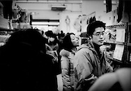 This popular discount clothing store still does a brisk business during hard times as Japanese consumers seek out bargains, Tokyo Japan.  ..