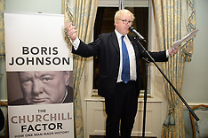 OCT 22 2014 Boris Johnson Launch of The Churchill Factor