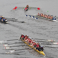 October 24, 2010 - Boston, MA - During the 46th Head of the Charles Regatta held in Boston the Arlington-Belmont Girls Varsity Crew team (yellow boat) finished 64 out of 70 in the team's first appearance. The A-B crew team is made up of students from both Arlington and Belmont High Schools. (Photo by Matt Wright 2010)