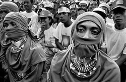 Amien Rais Rally. June 1999 Elections Jakarta Indonesia