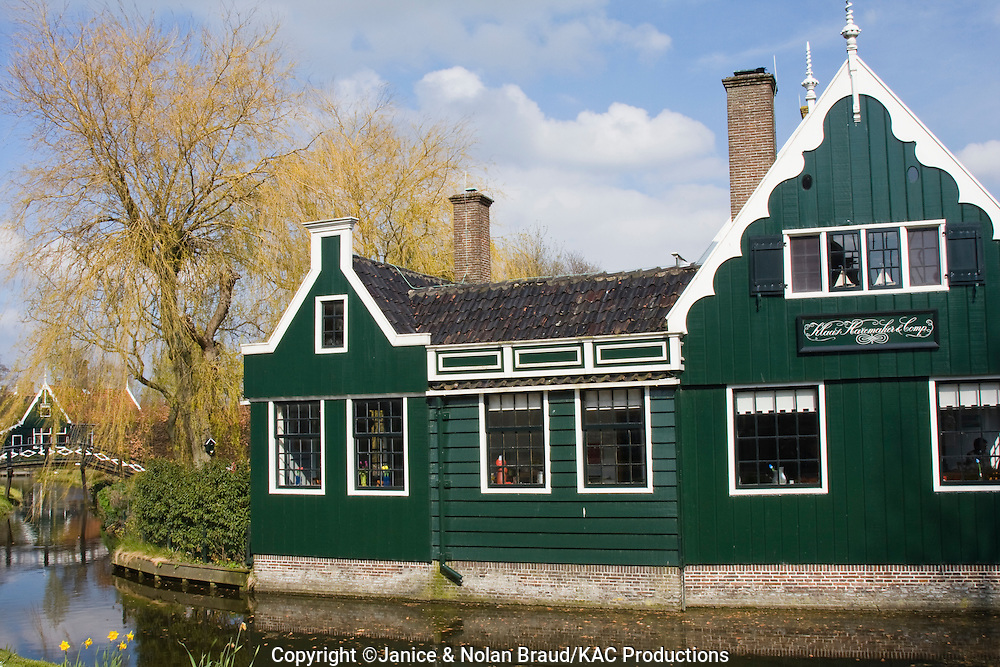Zaanse Schans National Park and Museum in North Holland, The Netherlands.
