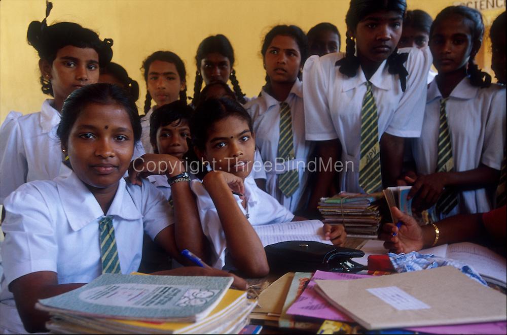 Girls at a school on Kayts, Jaffna...2002