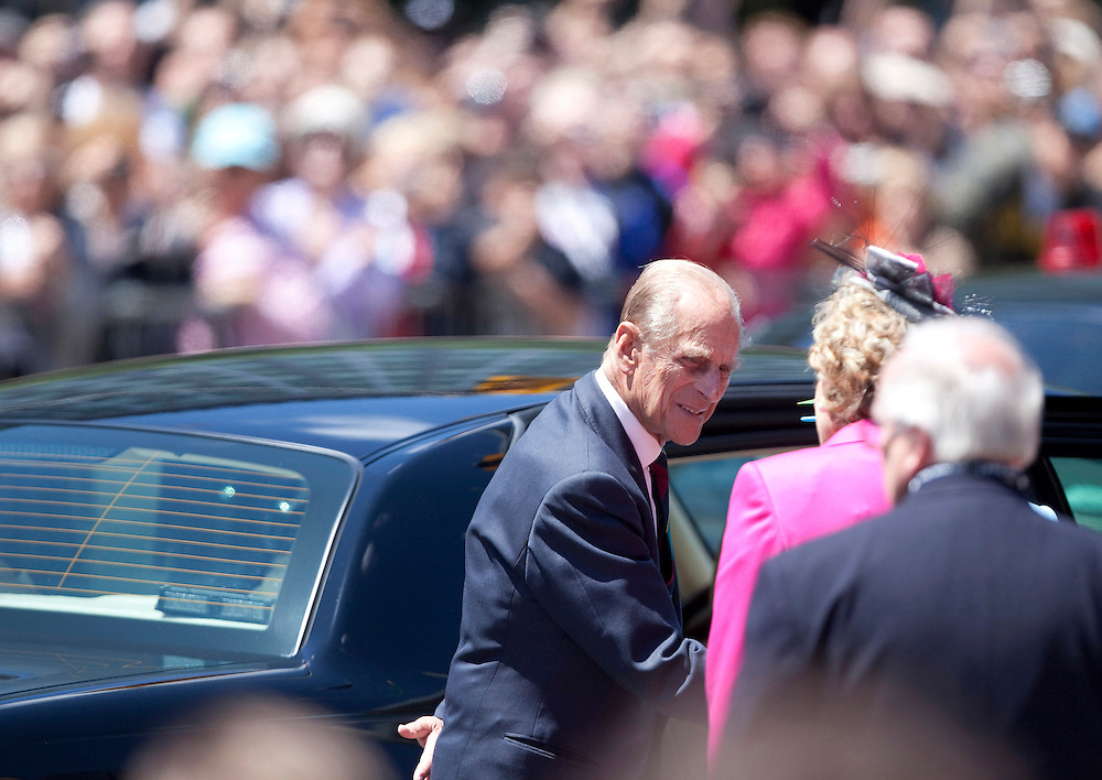 Prince Philip, The Duke of Edinburgh, arrives at the National Arts Centre in Ottawa, Canada, June 30, 2010. The Queen is on a 9 day visit to Canada. <br /> AFP/GEOFF ROBINS/STR