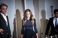 Host for the Nobel Peace Prize concert Sarah Jessica Parker arrives at a press conference for the concert at Radisson Blu Plaza Hotel in Oslo.