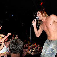 UK. Minehead. All Tomorrow's Parties 'The Nightmare Before Christmas' at the Butlins Holiday Centre, Minehead, Somerset..Photo shows Iggy Pop and The Stooges performing on Centre Stage..