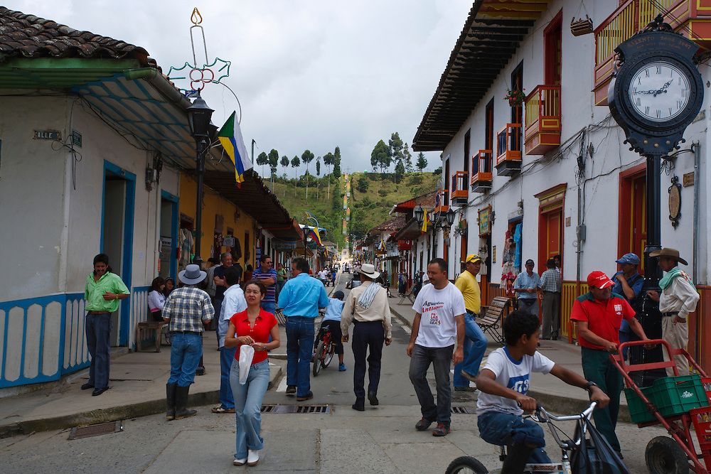 A Lively Street Scene In Salento Quindio Colombia Beauty Surrounds You