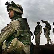 7 December 2004..Jawan, Iraq..US Marines raid suspected insurgent homes.....US Marines based in Yusufiyah, Iraq continued on 7 December ongoing raids against suspected insurgents within the untis area of operation...The Marines have made repeated visits to the family homes of known insurgents thought to have been involved in the recent fighting in Falluja.
