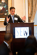 Barry Miller, Head of Private Equity, Office of the New York City Comptroller speakint at SEO 2nd Annual Alternative Investment Conference held May 17, 2011 at the Essex House Hotel in New York. Organized by Sponsors for Educational Opportunity (SEO), the conference is part of SEO's Alternative Investments Program, which includes the Alternative Investment Fellowship Program (AIFP), an initiative launched in 2009.  The AIFP is an educational program for young professionals from backgrounds traditionally underrepresented in the alternative investments industry.  The AIFP combines workshops, training and mentoring to strengthen Fellows as candidates for positions in private equity and other alternative investments.  The program also improves Fellows' skills as analysts by exploring strategic decisions involved in transactions from the client's point of view.