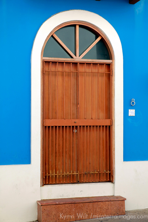 USA, Puerto Rico, San Juan. Doorways of Old San Juan, Puerto Rico.