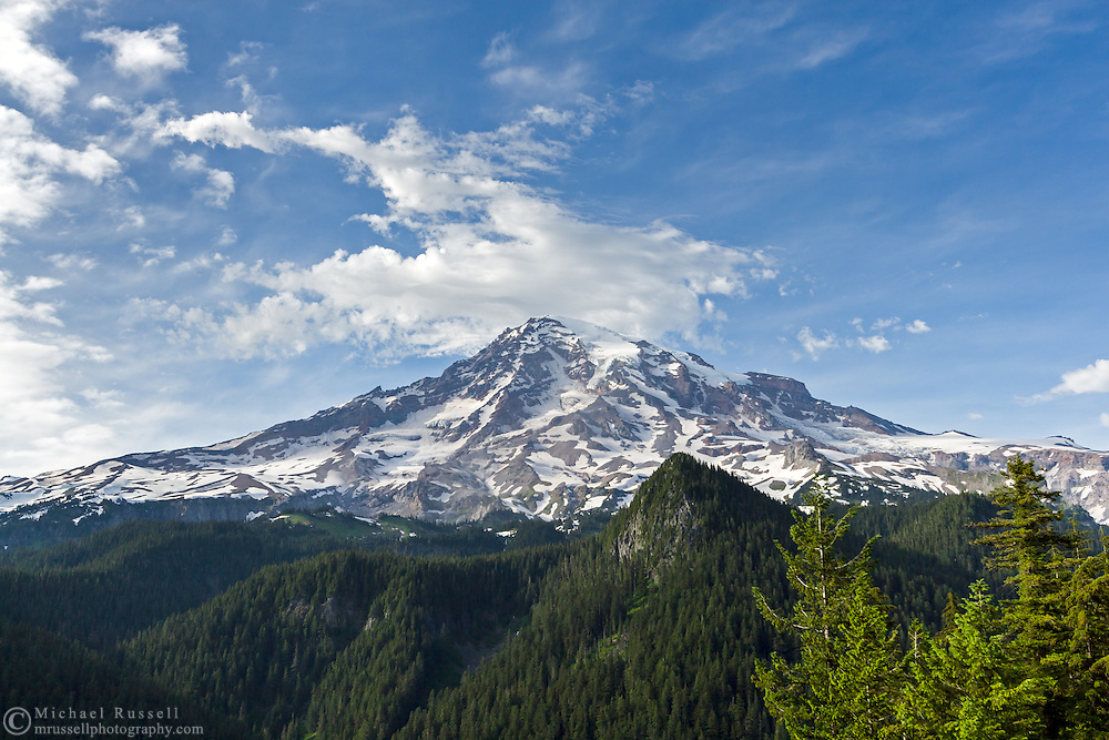 Mount Rainier from Ricksecker Point at Mount Rainier National Park in Washington State, USA