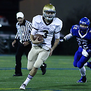 Salesianum quarterback Matt Sgro (3) rushes extra yardage in the fourth quarter of the DIAA State Championship football game against Middletown Saturday, Nov. 30 2013, at Delaware Stadium in Newark Delaware.