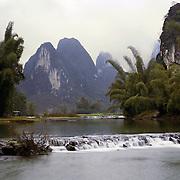 AA01208-02...CHINA - Tributary to the Li River near Yangshuo.
