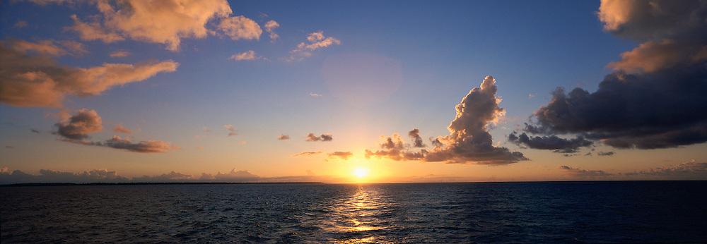 Sunset over ocean<br />