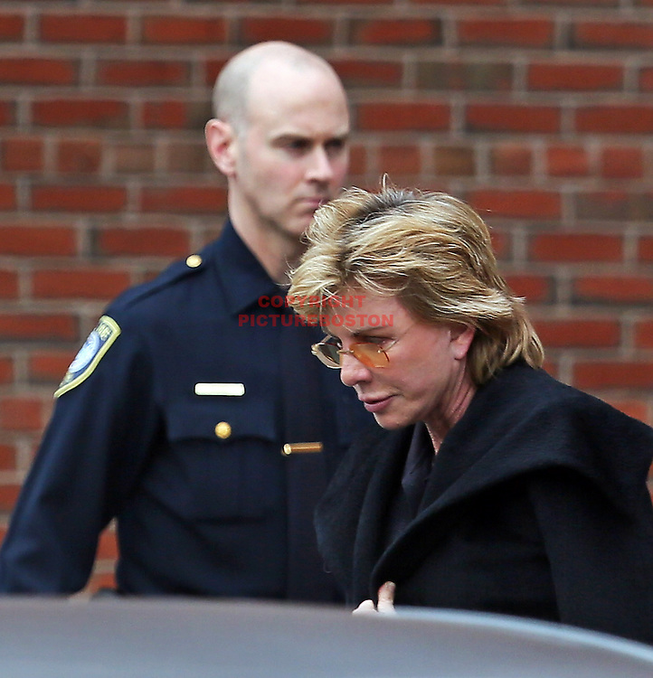 Patricia Cornwell leaves United States District Court in Boston today.