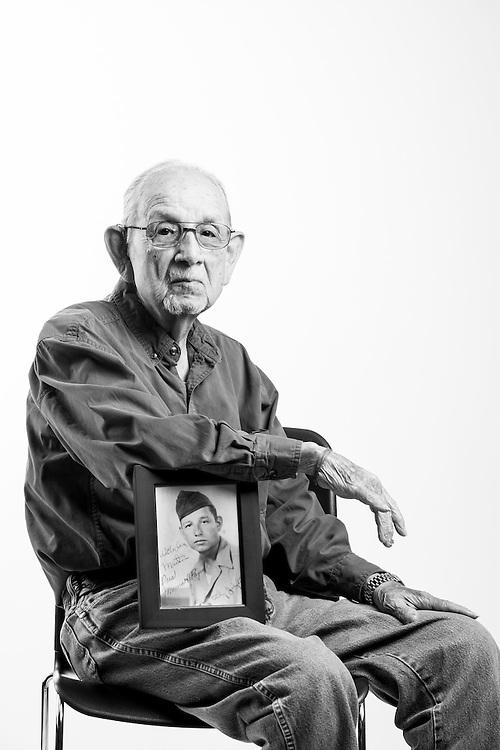 Martin Torres Jr. <br /> Army<br /> E-3<br /> Medical Aideman<br /> 1943 - 1946<br /> WWII (Europe)<br /> D-Day France<br /> <br /> <br /> Veterans Portrait Project<br /> Colorado Springs, CO San Antonio, Texas