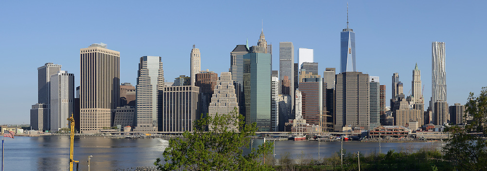 Panorama of Manhattan. View from Brooklyn.