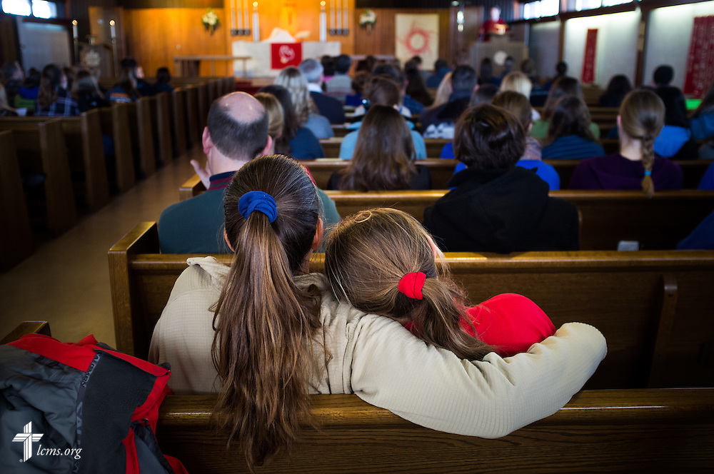 Worshippers attend a pre-March for Life LCMS Divine Service Wednesday, Jan. 22, 2014, at Immanuel Evangelical-Lutheran Church in Alexandria, Va. LCMS Communications/Erik M. Lunsford