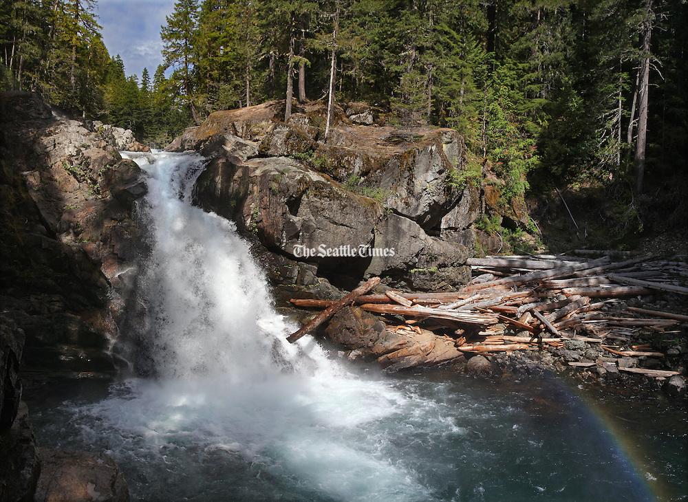 Silver Falls on the Ohanapecosh River. (Steve Ringman / The Seattle Times)