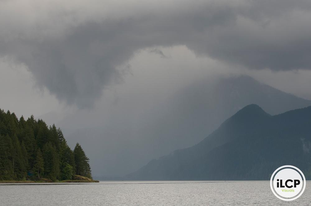 Clouds at Pitt Lake.