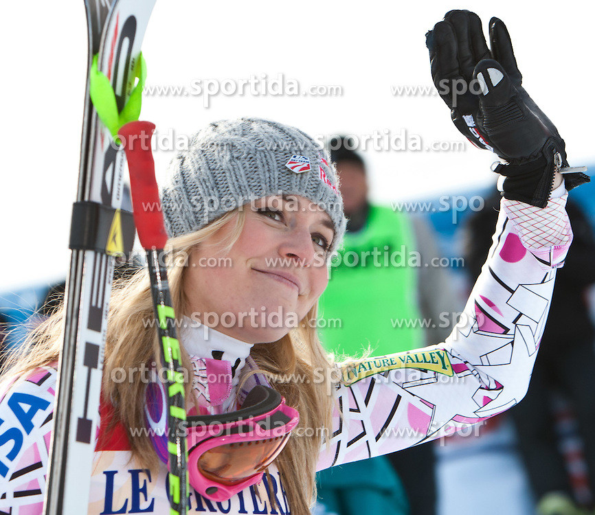 21.01.2011, Tofana, Cortina d Ampezzo, ITA, FIS World Cup Ski Alpin, Lady, Cortina, SuperG, im Bild Lindsey Vonn (USA, #20, Platz 1) // Lindsey Vonn (USA, place 1) during FIS Ski Worldcup ladies SuperG at pista Tofana in Cortina d Ampezzo, Italy on 21/1/2011. EXPA Pictures © 2011, PhotoCredit: EXPA/ J. Groder