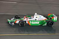 Tony Kanaan crashed at the Richmond International Raceway, SunTrust Indy Challenge, June 25, 2005